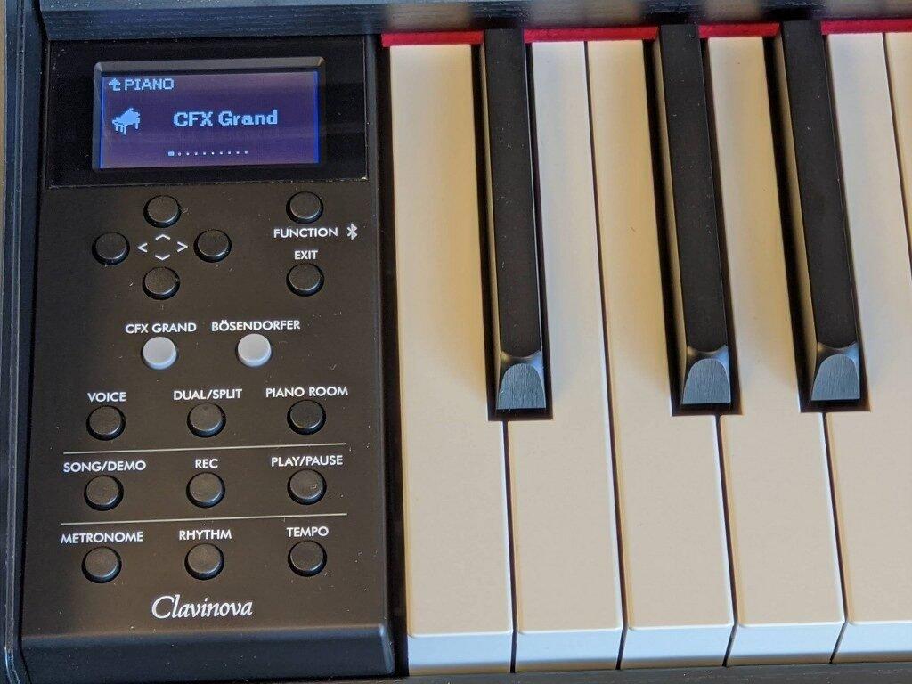Yamaha CLP-745 user interface panel