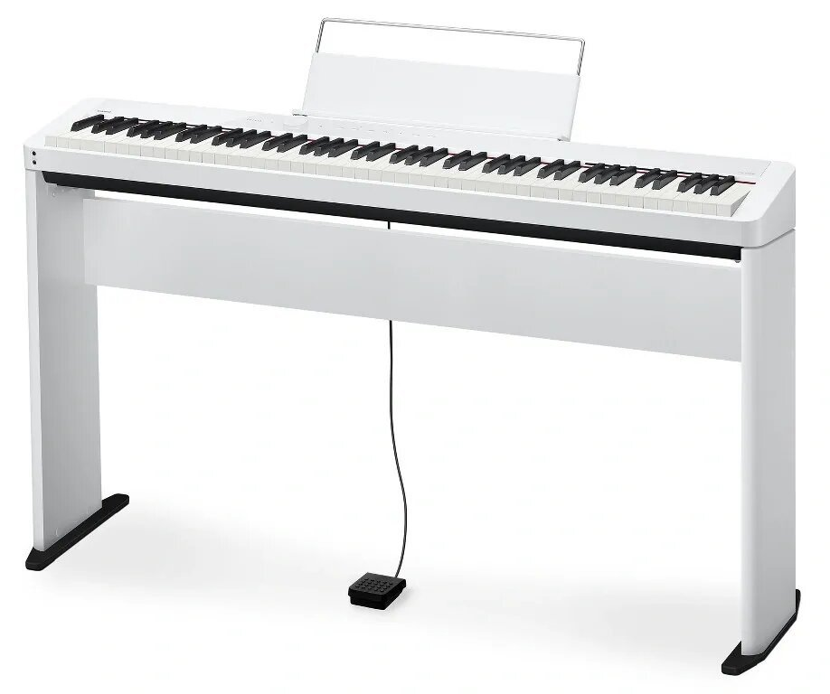 white PX-S1000 on stand with single pedal