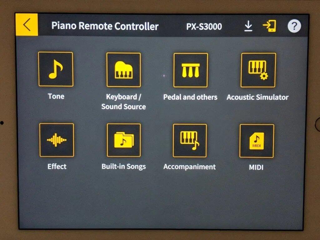 Casio Chordana remote app for iPad