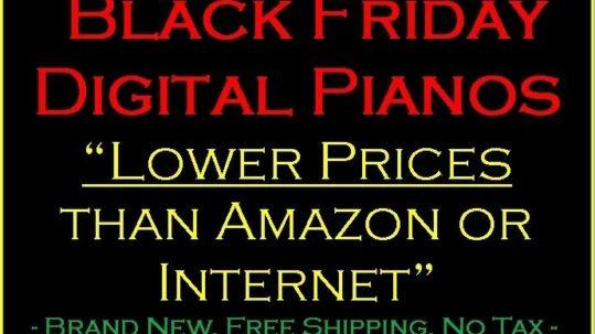 Black Friday Digital Pianos 2020
