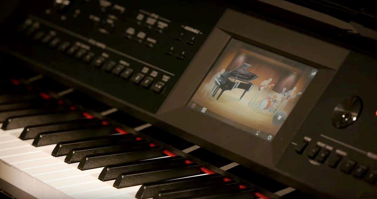 Yamaha CVP-805 control panel
