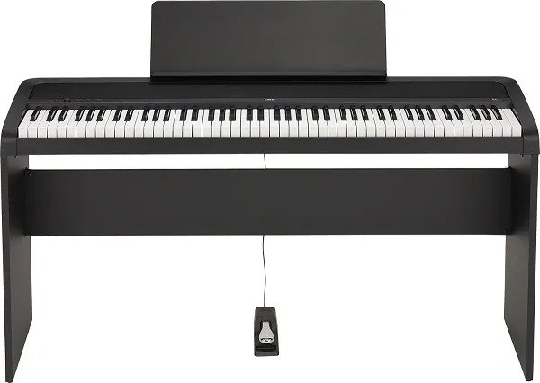 Korg B2 digital piano with stand and single pedal
